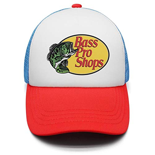 Boys Girls Bass-Pro-Shops-Logo- Adjustable Cap Dad red Trucker Baseball Hat Cap