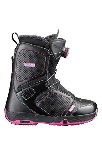Salomon Snowboards Pearl Boa Snowboard Boot - Women's Black, 23.5 - Pearl Womens Snowboard Boots