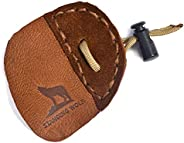 Standing Wolf Traditional Moose Leather Finger Tab for Archery   Traditional Style Archery Tab Finger Protecto