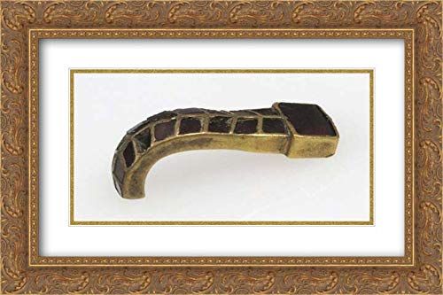 Ostrogothic Culture - 24x16 Gold Ornate Frame and Double Matted Museum Art Print - Tongue from a Buckle ()