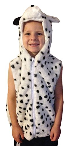 Fashion Vest with Animal Hoodie for Kids - Dress Up Costume - Pretend Play (Medium, Dalmation)