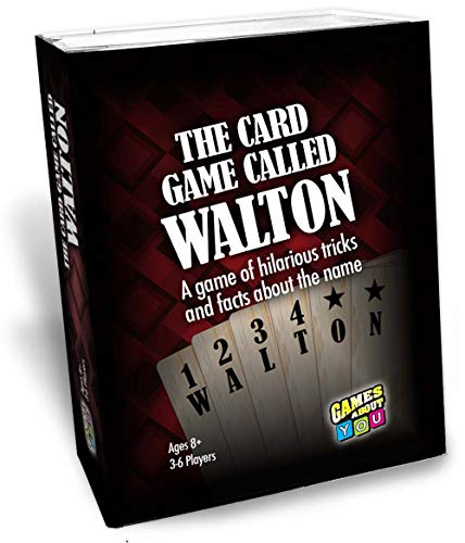 - Card Game Called Walton, Personalized Game for People Named Walton