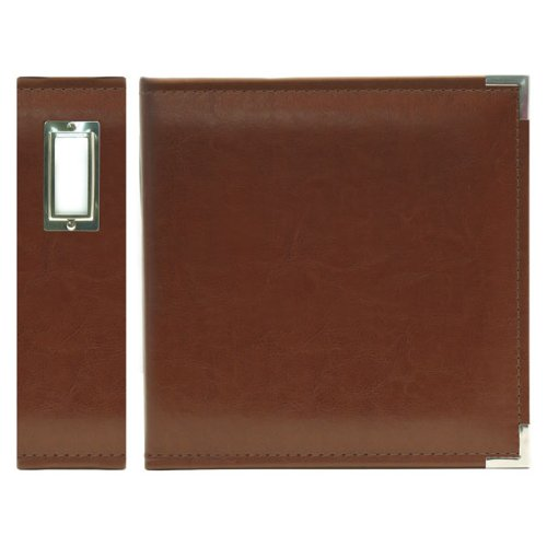 3 Memory Keepers Ring - We R Memory Keepers Classic Leather 3-Ring Album -  8.5 x 11 inch, Dark Chocolate