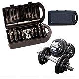 Kit Completo Anilhas + Halteres na maleta 20kg - Wct Fitness 216