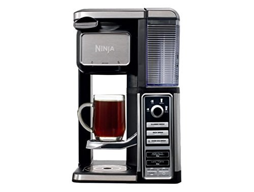 Ninja CF112 Coffee Bar Single-Serve System w/Auto-iQ One-Touch Intelligence Technology, 12.2 x 11 x 16.3, Black/Silver (Certified Refurbished)