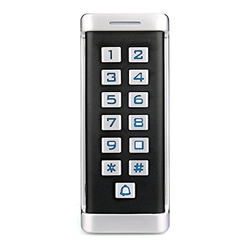 Retekess H1EM-W Access Control Keypad Stand Alone Access Keypad Reader Waterproof Metal Case RFID Keypad Single Door with 2000 Users for ()