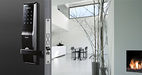 Samsung SHS-H705-FBK Biometric Digital Door Lock, Touch Screen with Large Mortise (AML-320)