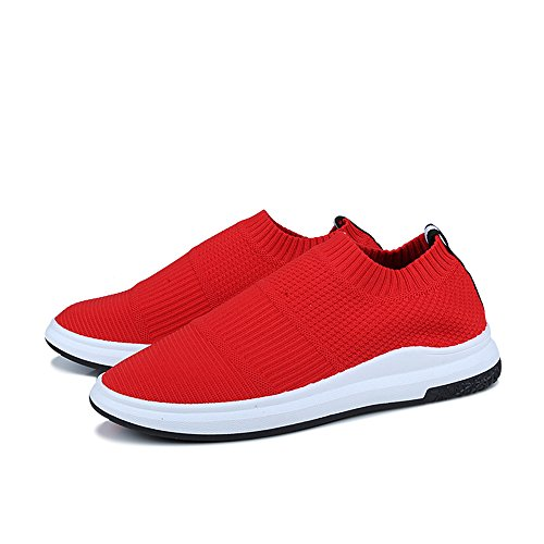 Red Running Casual Sport Soft FZDX for Men Men's Breathable Shoes Lightweight Shoes 018 wqRnqPtI