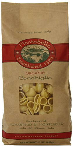 Montebello Organic Pasta, Conchiglie, 16 Ounce Bag (Pack of 4) (Conchiglie Pasta compare prices)
