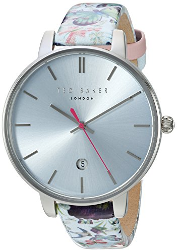 Ted Baker Women's Kate Stainless Steel Japanese-Quartz Watch with Leather Strap, Multi, 14 (Model: 10031540