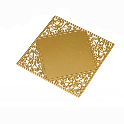 Metal Die Cutting Dies Stencil For DIY Scrapbooking Album Paper Card Decor Craft by TOPUNDER A (Star Medallions Border)