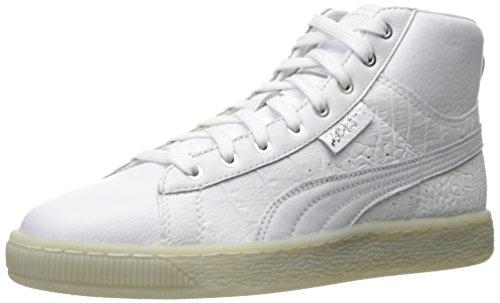 PUMA Women Basket Mid Ali WN Fashion Sneaker Puma White-puma Silver