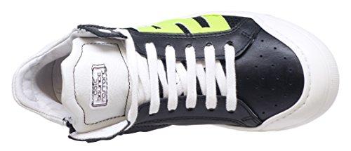 cole bounce restore 2326A Unisex-Kinder Schnürschuhe Hohe Sneaker Schwarz (Schwarz-Neongelb)