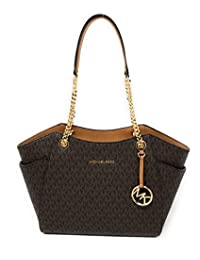 Michael Kors Jet Set Travel Large Chain Shoulder Tote Handbag