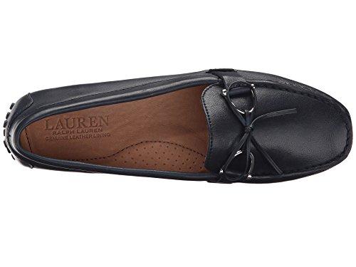 Ralph Lauren Lauren Womens Mocassino In Pelle Brilla Moderna Pelle Blu Navy Super Soft