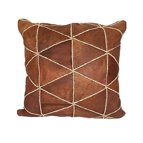 Moroccan Leather Pillow, 16