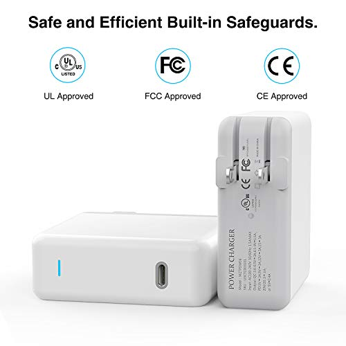 Onforu 61W USB C Power Adapter, UL Listed Power Delivery Wall Charger, Fast Charger for MacBook Pro Thunderbolt Port, iPad Pro, USB Type C Charging Laptop, Smartphone, etc (USB C-C Cable Included) by Onforu (Image #3)