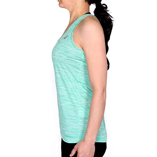 Asics Fuzex Layering Tank Camiseta de Tirantes, Mujer verde (blarney)