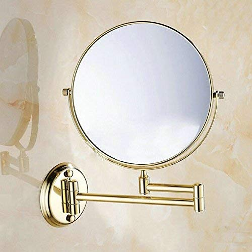 Junson Soap Dish Holder, 801G Series Gold Polished Copper Bathroom Accessories Towel Shelf Towel Bar Paper Holder Cloth Hook Soap Dish Cup Holder, 8inch Mirror only (Color : 8inch Mirror Only) ()