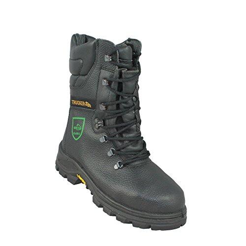 Aimont Black Forest Schnittschutz Klasse 2, P A E HI CI WRU HRO FO Sicherheitsschuhe Arbeitsschuhe Trekkingschuhe Stiefel Schwarz