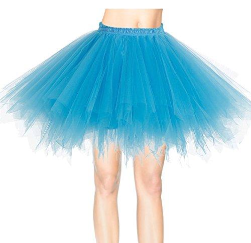 Mini Tutu Sottoveste Pin Tulle Pizzo Up Vestito Petticoat Rockabilly Skirt Abito Ballo Principessa Gonna 50 Donna Ragazza Retro Clubwear a Strati Turchese Danza Annata Ballerina Sottogonne di Organza Partito rq4rTwZz