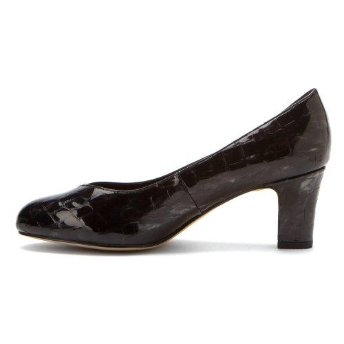 8 Kidskin Black Patent Vallerie Croc Ros Black Hommerson heels Kidskin Women's Croc Patent 5 M 7xWRnCW
