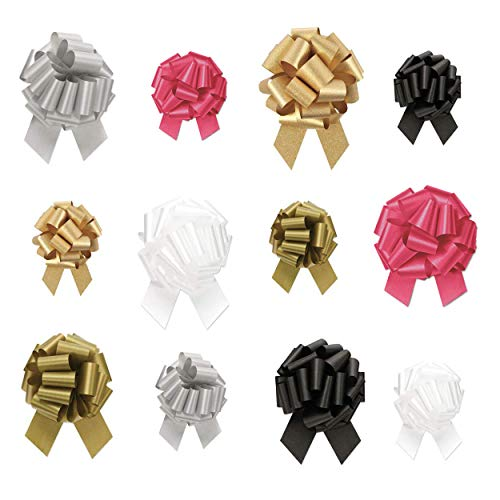 BonBon Paper Gift Wrap Christmas Ribbon Pull Bows Metallic Assortment