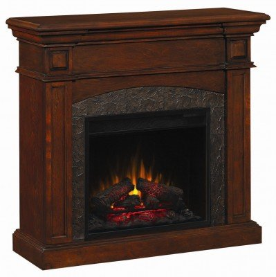 Coaster Mahogany Dual Mantel Electric Fireplace with Corner Option by Coaster 900372N