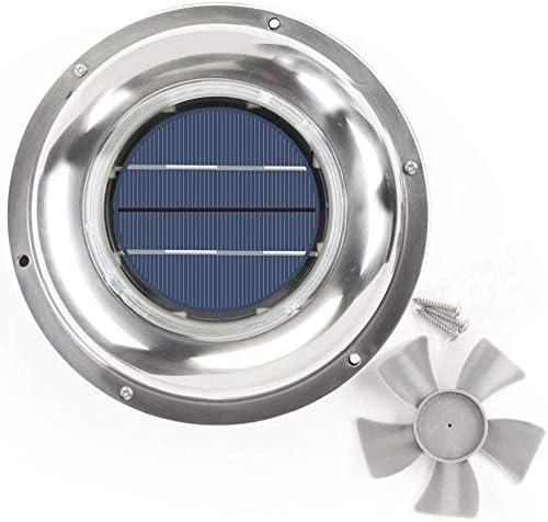 ECO LLC Solar Powered Roof Mounting Ventilator Stainless Steel Attic Fan