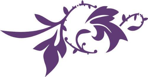 WANDTATTOO / Wandaufkleber f66 sehr hübsches Blümchen mit stylischen Verzierungen 160x83 cm - violett