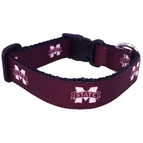 NCAA Mississippi State Bulldogs Dog Collar (Team Color, Medium) - Mississippi State Bulldogs Gear
