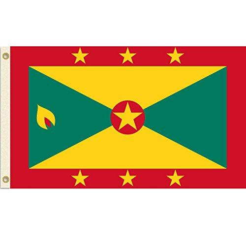 Grenada 3x5 Polyester Flag (Grenada One Light)