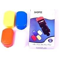 SHOPEE 4 Color Set Universal Flash Bounce Diffuser Reflector OM Omni for Nikon Canon VIVITAR Flashes