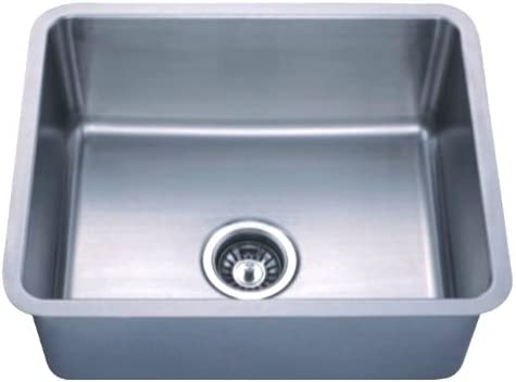 Dowell Undermount Single Bowl Stainless Steel Kitchen Sinks Handcrafted Small-Angle Corner Series 6005 2117