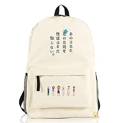 Siawasey Anohana Anime Menma Cartoon Cosplay Messenger Bag Shoulder Bag Backpack outlet