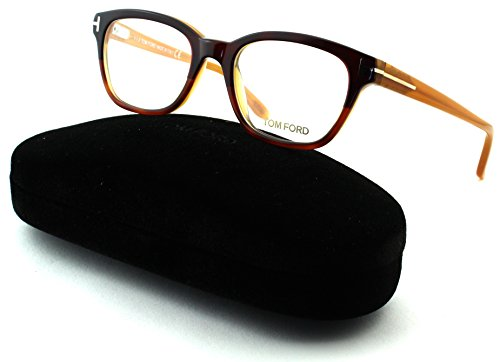 Tom Ford FT 5207 Women Geometric Eyeglasses (Drak Brown Frame 050, - Ford Eyeglasses Tom Discount