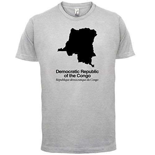 Democratic Republic of the Congo / Demokratische Republik Kongo Silhouette - Herren T-Shirt - Hellgrau - XXL