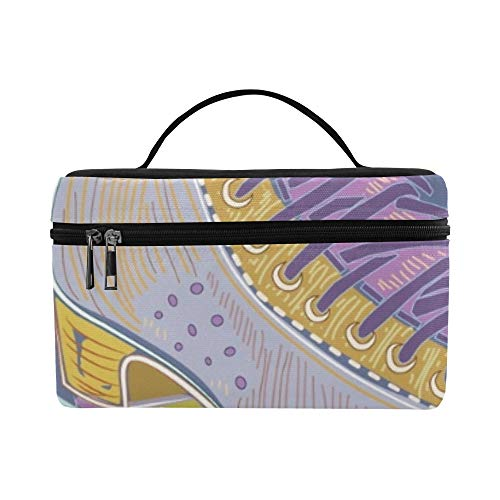 (Two Pairs Of Roller Skates - Men And Women Pattern Lunch Box Tote Bag Lunch Holder Insulated Lunch Cooler Bag For Women/men/picnic/boating/beach/fishing/school/work)