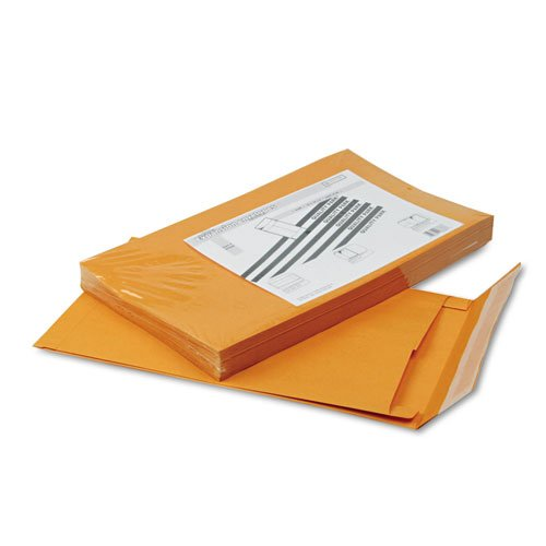 Quality Park 93338 Redi-Strip Kraft Expansion Envelope, Side Seam, 10 x 15 x 2, Brown, (Redi Strip Kraft Expansion Envelopes)