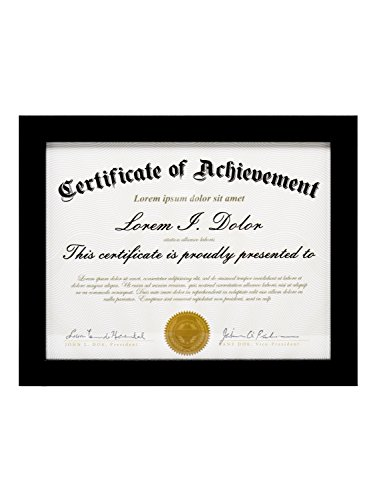 (LAST G 8.5x11 Document Frame by To Display 8.5 by 11 Inch Document Certificate Frames Standard Paper Frame Black)