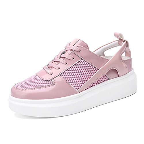 Pink 39 größe Schuhe Frühlings zufälligen Damenschuhe Frauen Sport Netz Farbe weiblicher flache HWF Breathable der beschuht Plattform Ca4qF6Wxqw