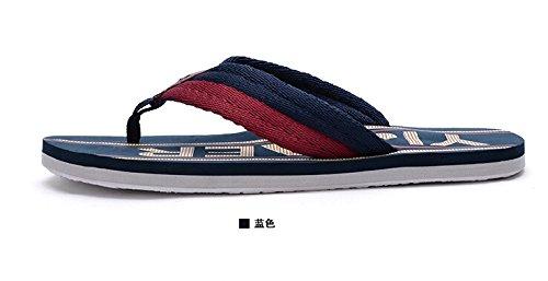Happyshop (tm) Amoureux De Lété Couples De Mode Tongs Sandales De Plage Anti-dérapant Chaussures Taille 36-45 Bleu
