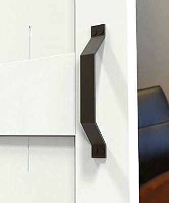 Rustic Black steel barn wood door handle door knob sliding door hardware