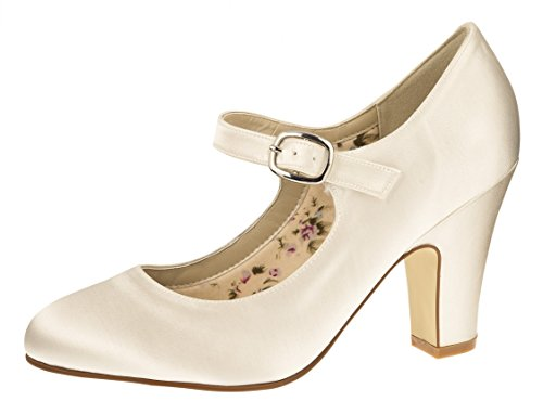 Rainbow Club Brautschuhe Madeline Ivory Satin (Bliss)