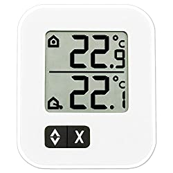 La Crosse Technology TFA 30.1043.02 Digital Indoor and Outdoor Thermometer, Small, White