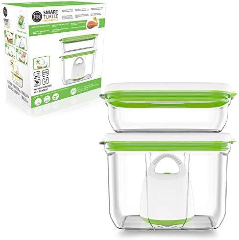 FOSA Home Starter Kit Barcelona. Envasadora al vacío compacta + 2 recipientes rectangulares (1x1.000 ml, 1x2.300 ml) para conservar tus alimentos: Amazon.es: Hogar