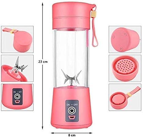 Licuadora Portátil,Mini Batidora Portátil Personal para Batidos y Smoothies - con 6 Cuchillas 3D y Vaso Exprimidor de 380 ml - Potente Máquina de Mano Mezcladora Recargable por USB: Amazon.es: Hogar