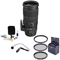 Sigma 70mm-200mm f2.8 EX DG OS HSM AF Lens for Nikon DSLRs, #589306,USA, BUNDLE