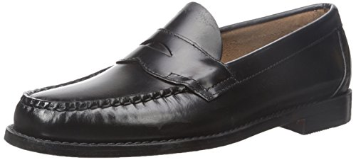G.H. Bass & Co. Men's Logan Flat Panel Loafer,Black,11 D (City Of Logan)