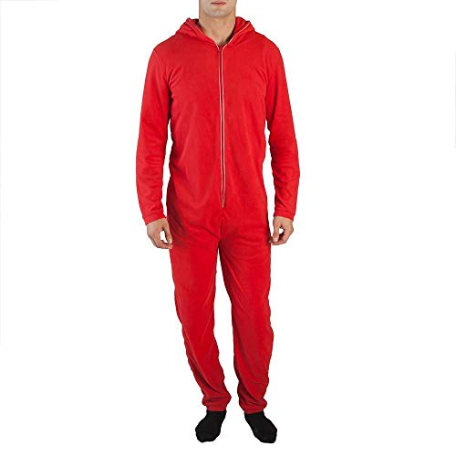 (Red Devil Union Suit with Light Up Horns, Zipper and)